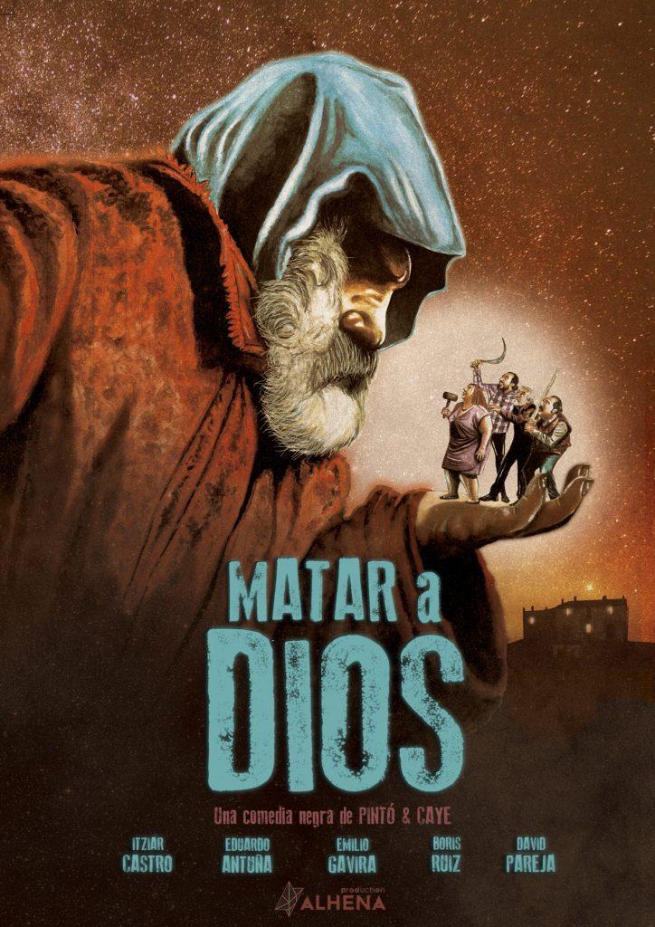 """Cartel de """"Matar a Dios""""."""